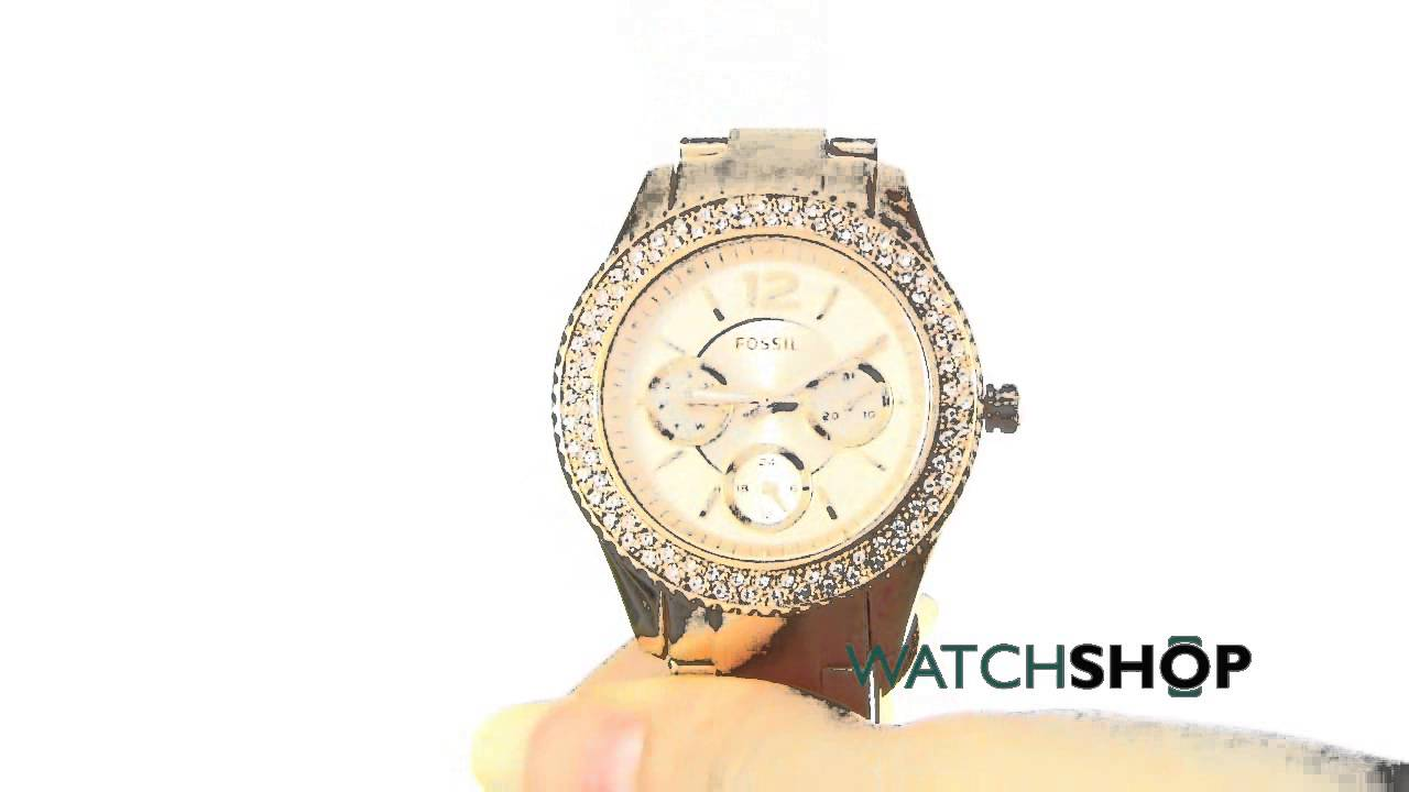 Fossil Ladies Stella Watch Es3590 By Watchshopofficial Es3707 Jacqueline Gray Leather Rose Gold