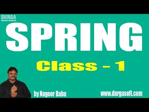 Learn Spring Programming Tutorial Online Training by Nagoor