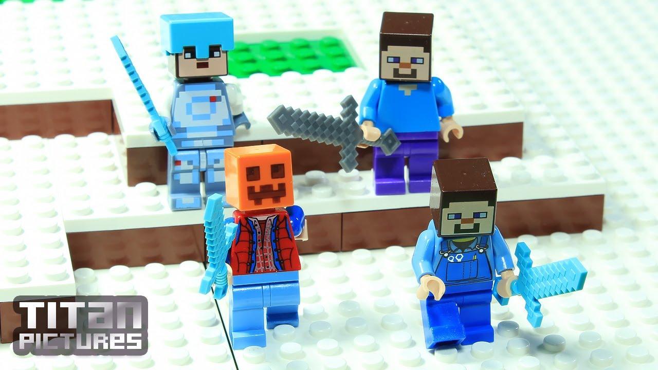Lego Minecraft - Clan Wars   Villager vs Pillager   Episode 8 - Wiseman