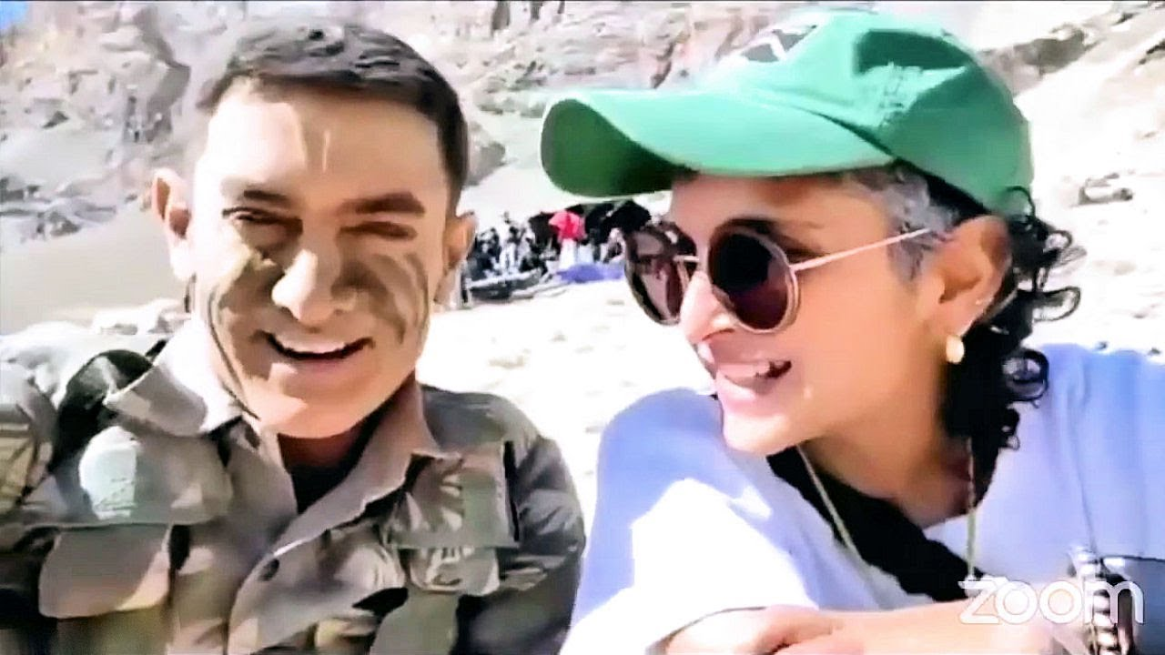 Aamir Khan And Kiran Rao On The Sets Of His New Movie