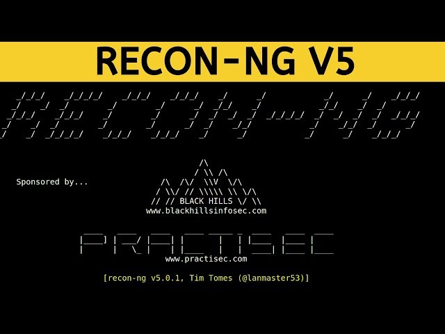 Recon-ng V5 - Syntax & Workspace Management