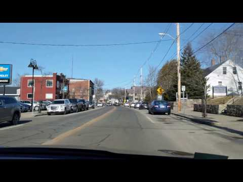 Driving the main drag in WaKefield, RI