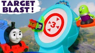 Thomas & Friends Minis Target Blast with the funny Funlings and Trackmaster Thomas TT4U