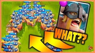 Clash Royale - NEW INFINITE ELITE BARBARIANS WORLD RECORD!