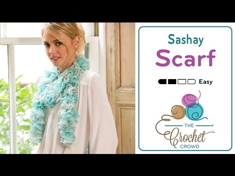 How To Crochet A Scarf Sashay By Red Heart Boutique Youtube