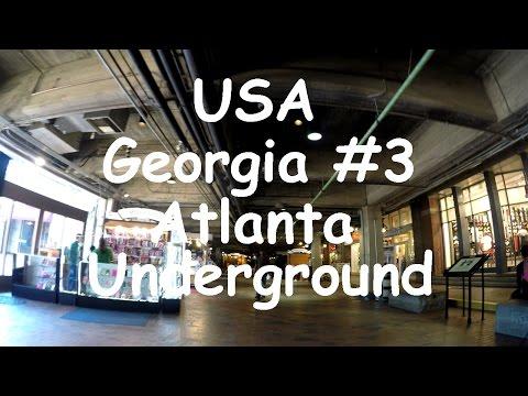 USA Georgia #3. Underground Atlanta. Contemporary Art District. 4k.