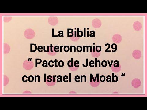 """La Biblia Deuteronomio 29 """" Pacto De Jehova Con Israel En Moab """""""