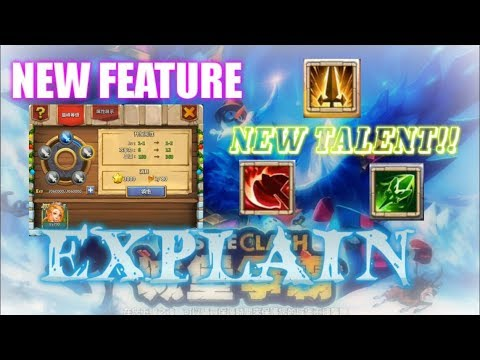 New System & 3 New Talent Explained Detail - Castle Clash