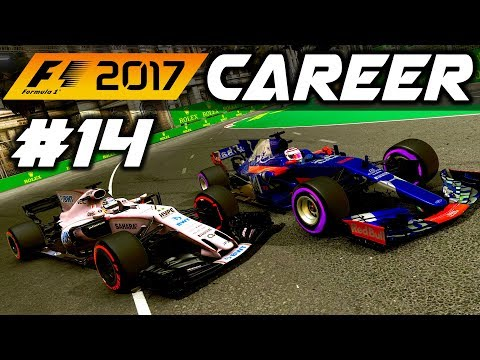F1 2017 Career Mode Part 14: RIVALS TANGLE IN SINGAPORE!