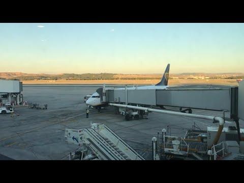 Ryanair Flight FR5352 Madrid Spain To Rabat Morocco, Price 10 Euro Raw Videos Unedited