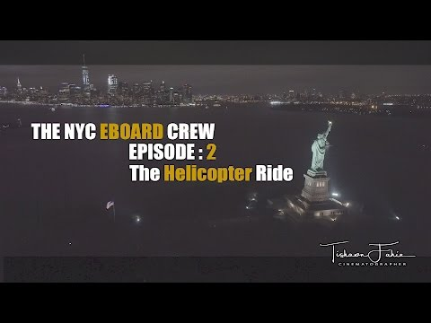 The NYC Electric Skateboard Crew Episode 2 - Epic Helicopter Ride
