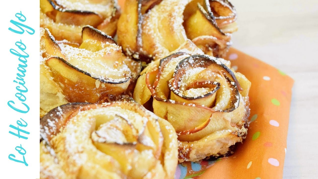 C mo hacer rosas de hojaldre y manzana apple roses - Hojaldre de puerros y gambas ...