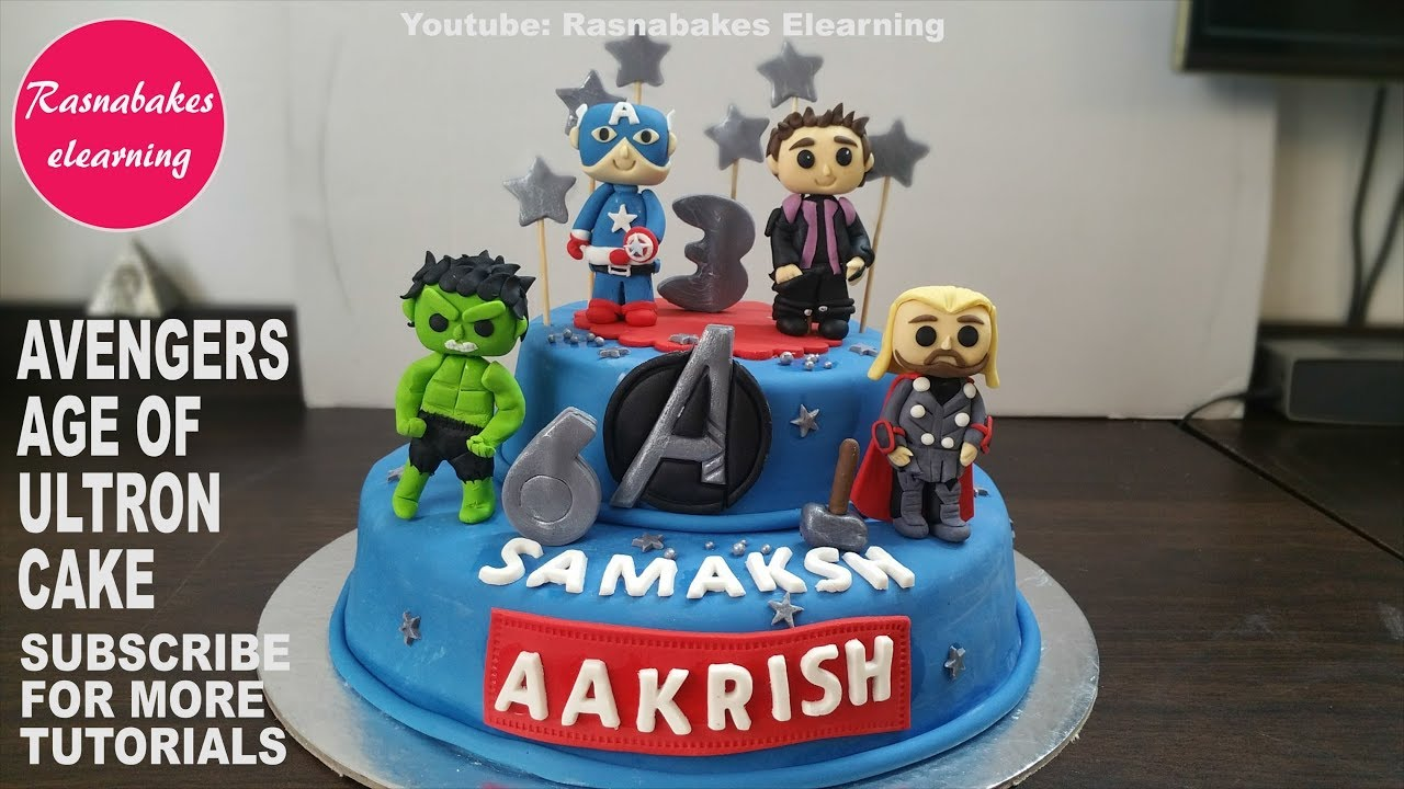 Marvel Avengers Age Of Ultron Characters Cake Design Ideas Pic Boys