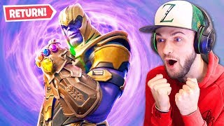 THANOS returning to Fortnite!