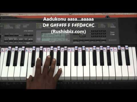 Chinni Chinni Aasa Piano Tutorials - Roja (Telugu)