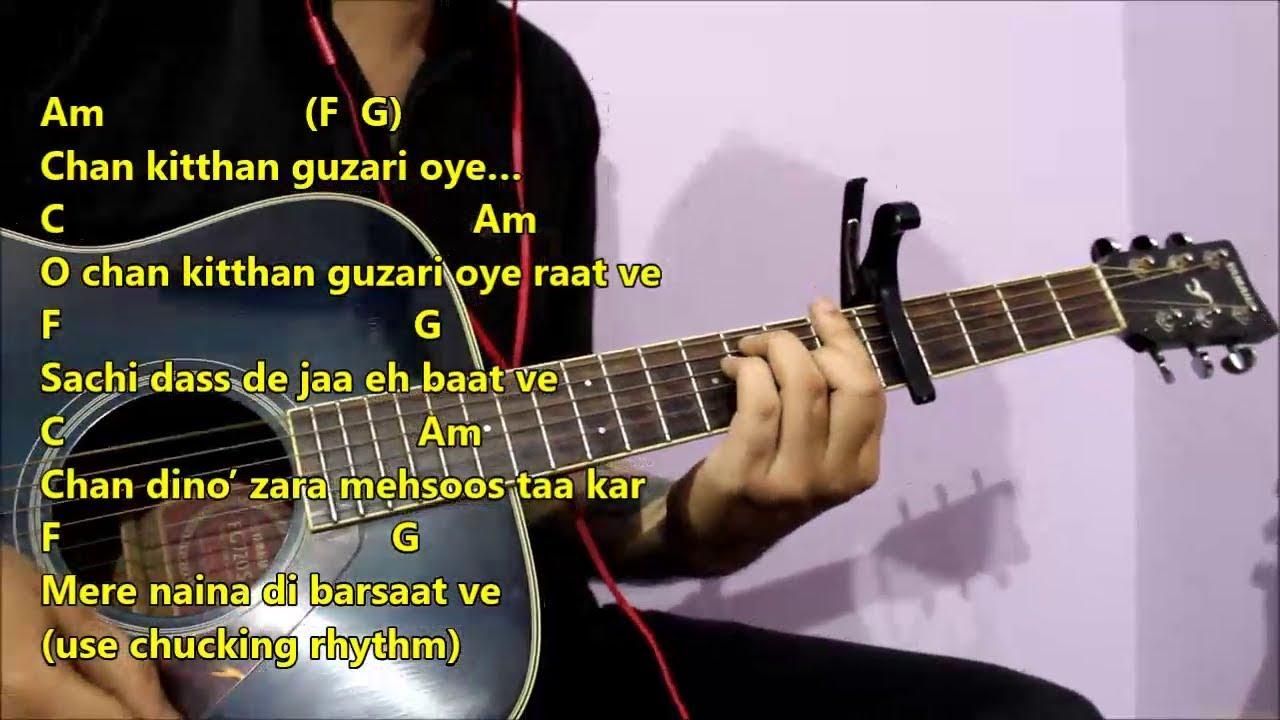 Chan Kitthan Ayushmann Khuranna Guitar Chords Lesson With Intro