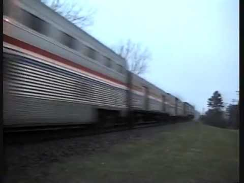 Rare Video - Metra Bi-Levels Pass on CP rails in Gurnee Illinois 1996