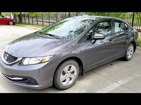 2014 Honda Civic LX Gray
