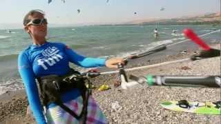 Kiteboarding 4 Girls at the Sea of Galilee Israel