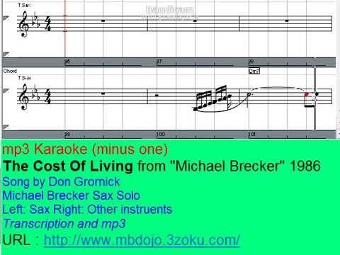 Michael Brecker Sax Solo Karaoke - The Cost Of Living