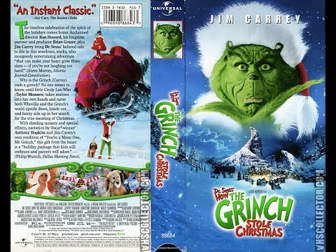 opening to how the grinch stole christmas live action 2001 vhs - How The Grinch Stole Christmas Vhs