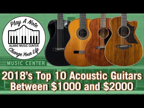 2018s Top 10 Acoustic Guitars Between $1000 and $2000  Martin, Taylor, Cordoba, Yamaha, Journey