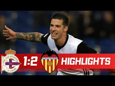 Deportivo vs Valencia 1-2 Resumen Highlights La Liga 13/01/2018