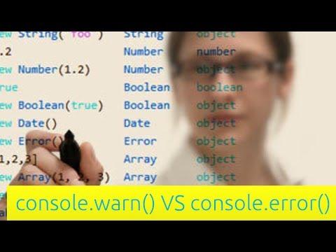 console.warn VS console.error - JavaScript Tutorial for Beginners