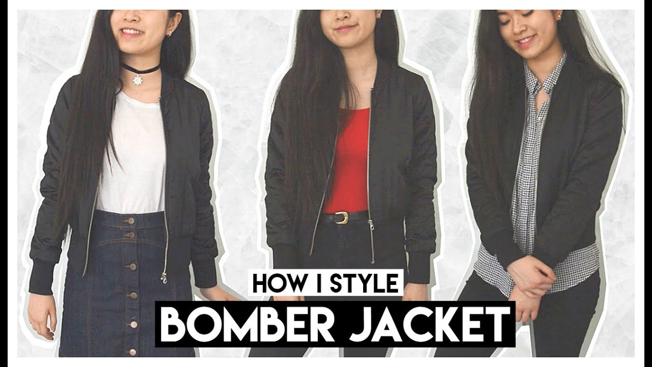 How I Style ♡ Bomber Jackets // Casual Everyday Spring Outfits ...