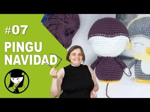 PINGUINO NAVIDEÑO A CROCHET 7 AMIGURUMIS DE NAVIDAD 1