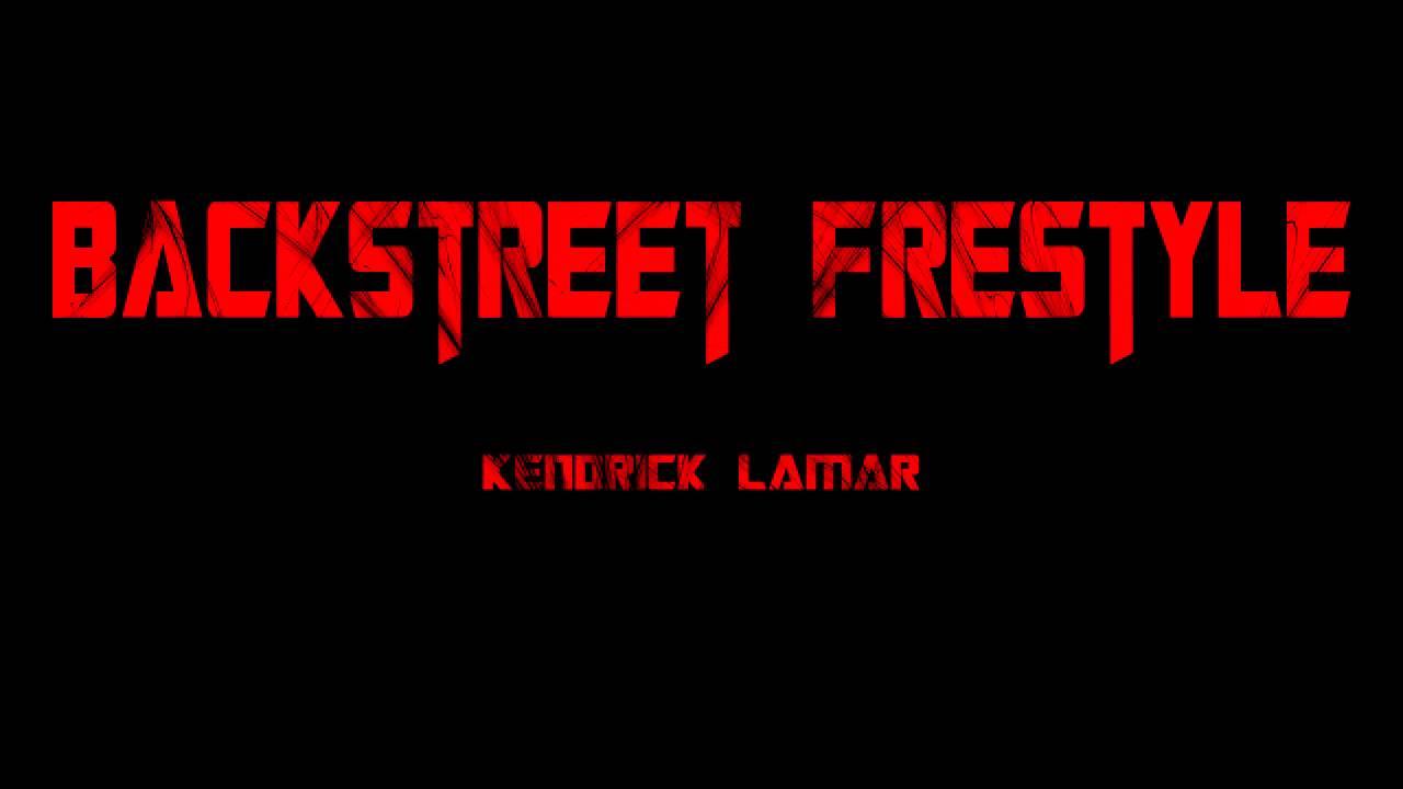 Kendrick Lamar Backstreet Freestyle Clear B Boost