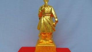 Quy trình phun màu Vàng 24K tượng Trần Quốc Tuấn
