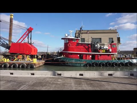 Work Barges Transiting the Welland Canal