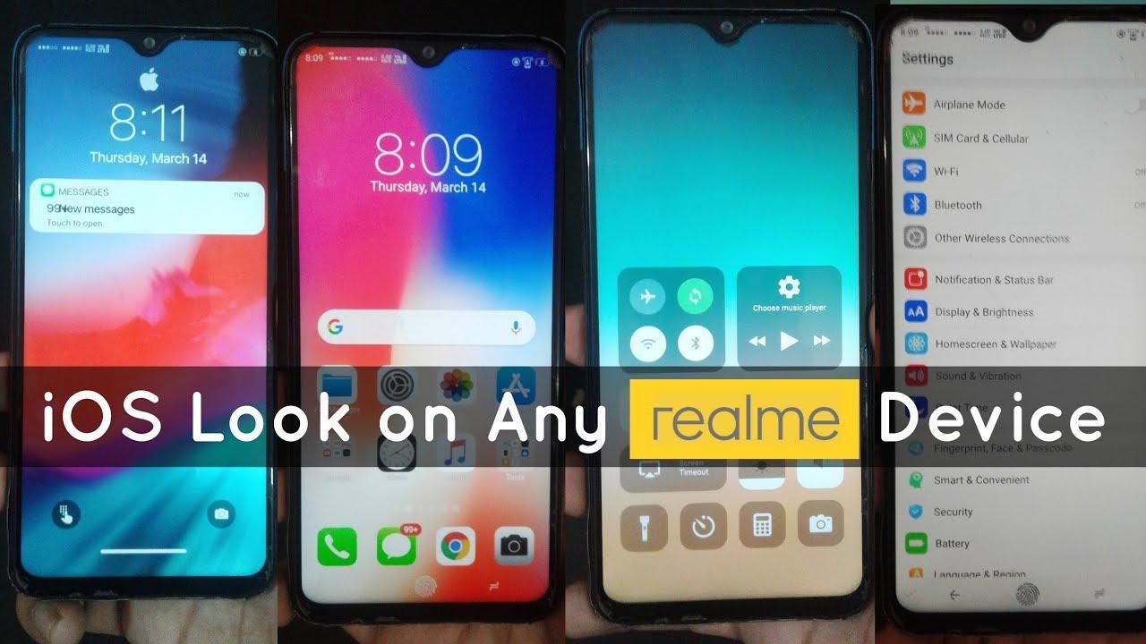 iOS Theme for Realme 2 Pro, Realme 2, Realme U1, Realme C1