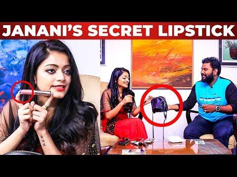BIGG BOSS Janani Iyer's Customized Lip stick Revealed! | What's Inside the HANDBAG