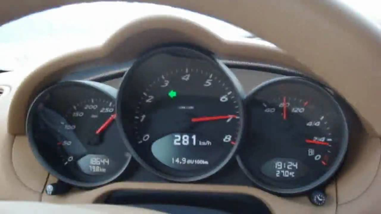 Porsche Cayman 2.7 top speed - 281 km/h - YouTube