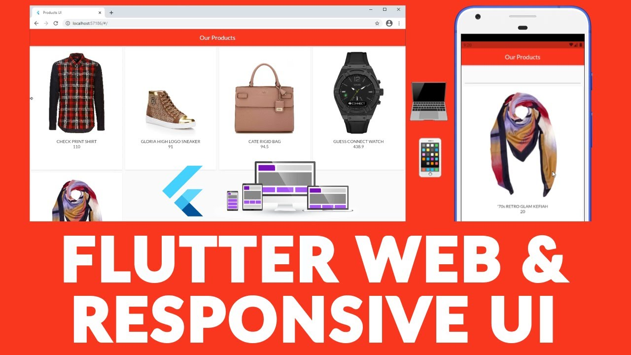 Flutter Web Stable? Coding a Responsive Products UI   Single Code Base For Web And App