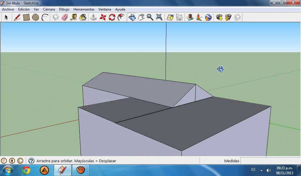 Como hacer diferentes techos en google sketchup 8 youtube for Techos diferentes