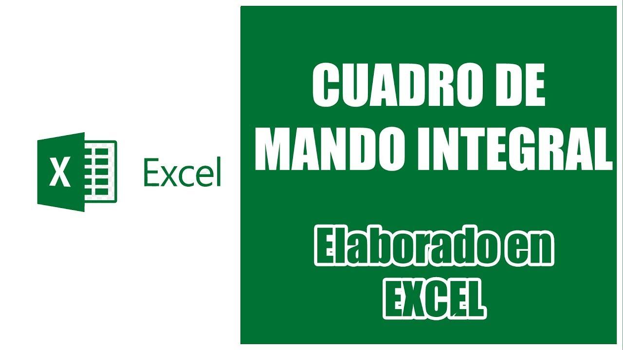 Cuadro de Mando Integral: Software en Excel para Balanced Scorecard ...