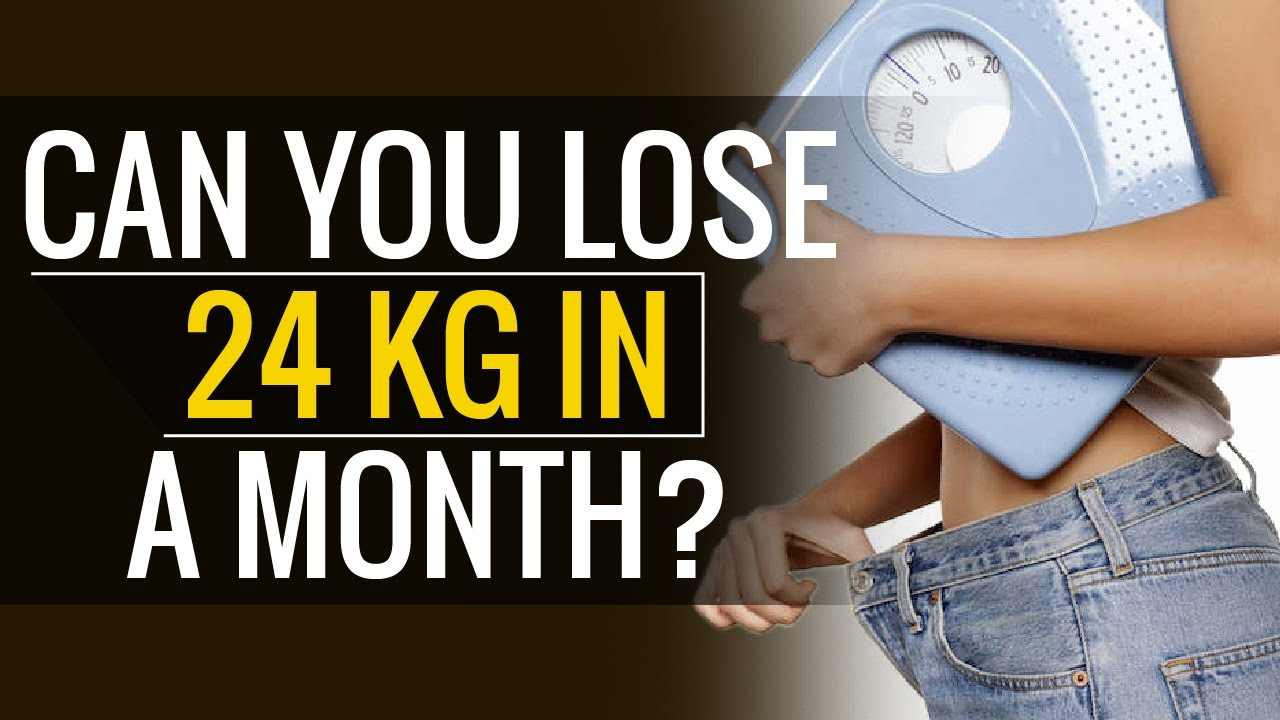 how much kg weight can i lose in a month