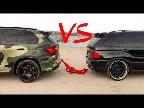 BMW X5M vs. BMW E53 - кто кого перетянет?