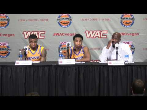 2016 WAC Basketball Tournament Postgame Presser - M's Game 4 - UMKC
