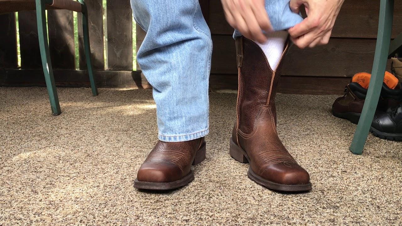 e505ea3d8c2 Ariat Rambler Wide Square Toe Western Cowboy Boots