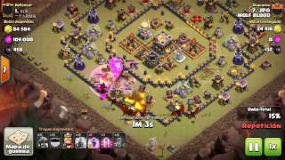 Clash of Clans| [TH9 vs TH11] Dragoloon WOLF BLOOD