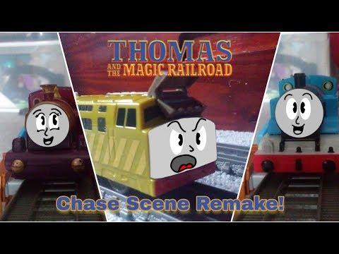 Thomas And The Magic Railroad | Chase Scene Remake! (Trackmaster, TOMY, Plarail)
