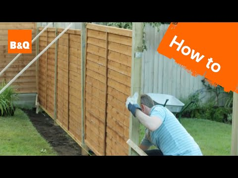 How to erect a fence