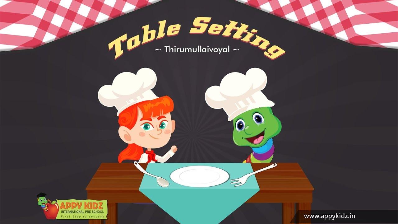 Table Setting Activity | Appy Kidz Thirumullaivoyal  sc 1 st  YouTube & Table Setting Activity | Appy Kidz Thirumullaivoyal - YouTube