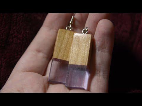WOOD and RESIN Earrings - DIY