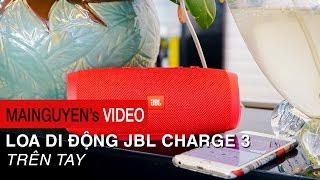 tren tay jbl charge 3 - cong suat 20 watt choi nhac 12 tieng chong nuoc ipx7