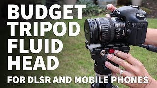 Budget Tripod Fluid Head for Smoother Video - Commlite Fluid Head for DSLR Cameras and Vlogging